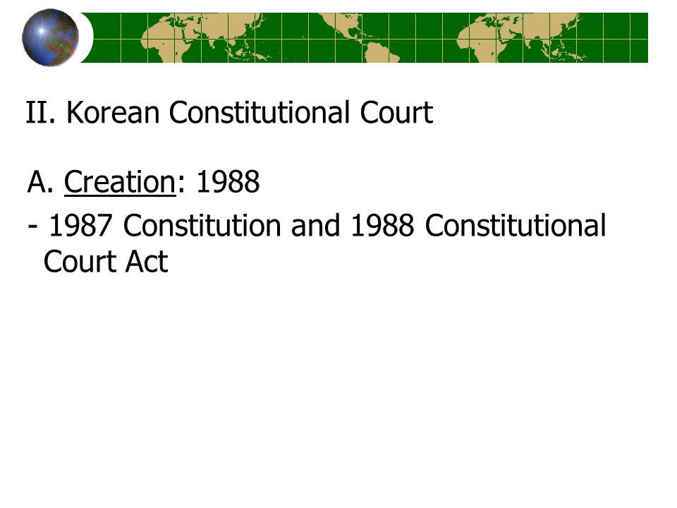 II. Korean Constitutional Court A.