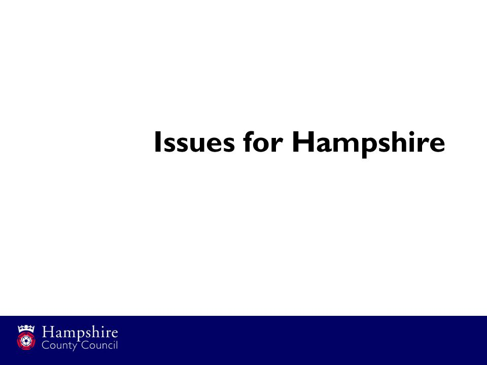 Issues for Hampshire