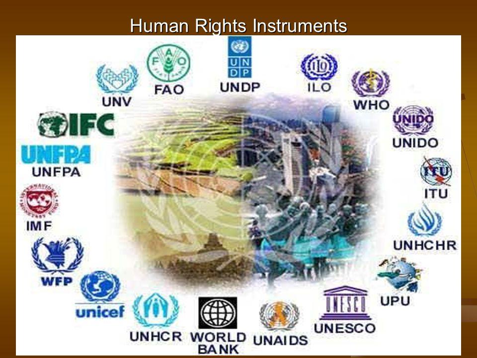 Human Rights Instruments