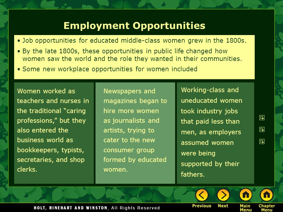 Newspapers and magazines began to hire more women as journalists and artists, trying to cater to the new consumer group formed by educated women.