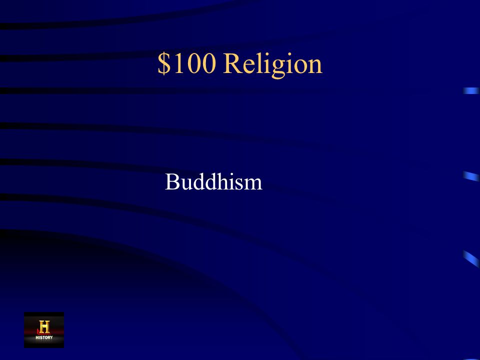 $100 Religion This religion, which promised a release from suffering, spread quickly across China.