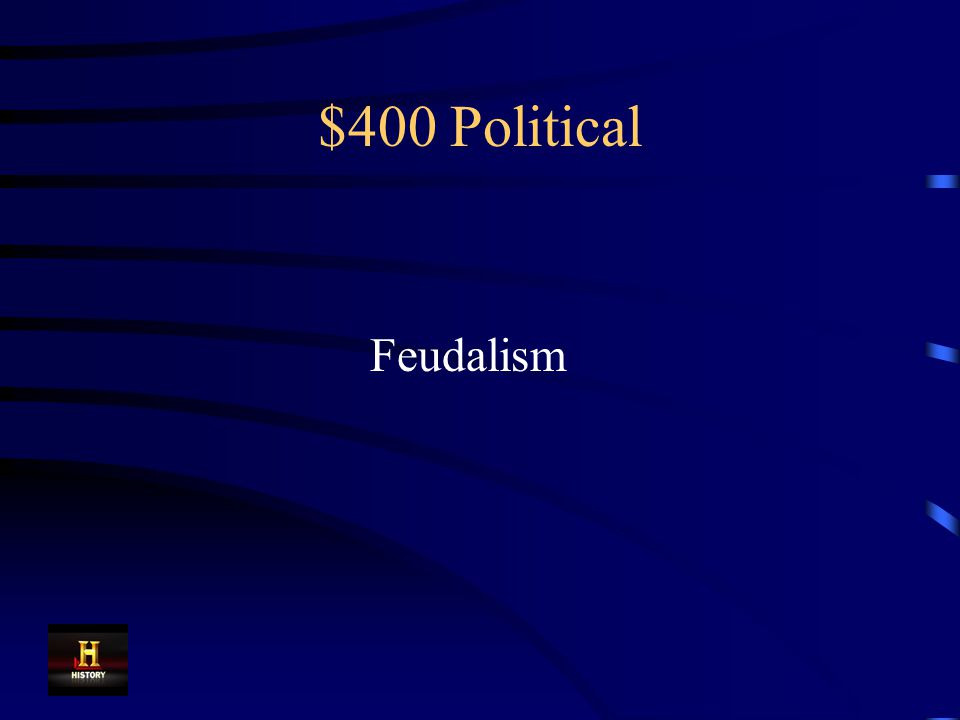 $400 Political After the fall of the Roman Empire, Europe was plunged into chaos.