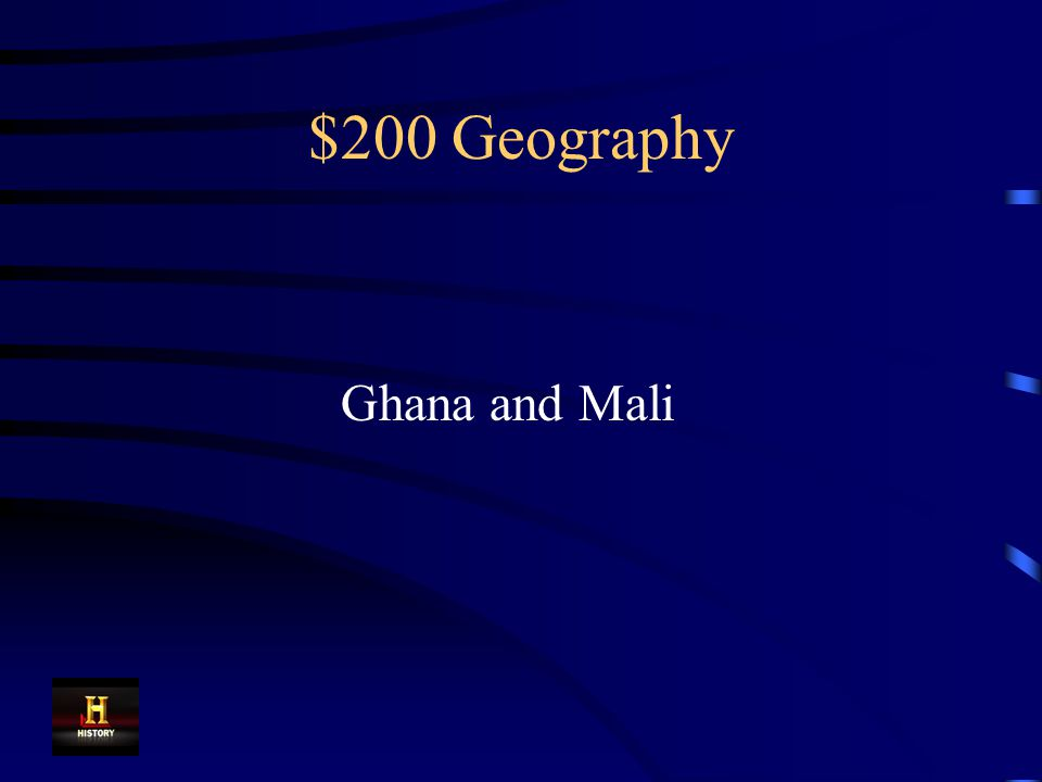 $200 Geography These kingdoms were located near the Niger River in west Africa.