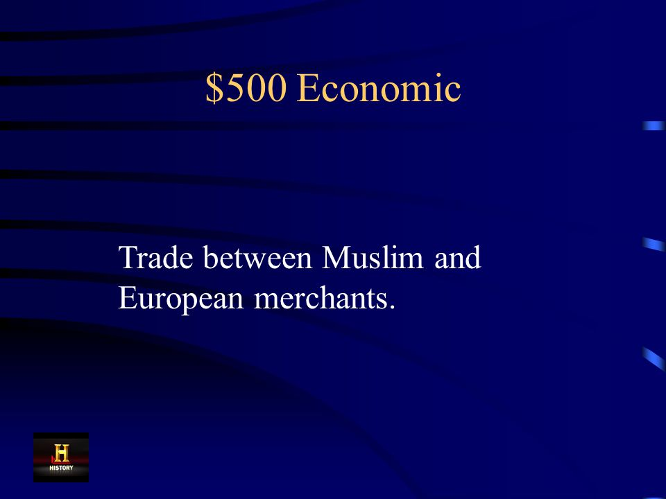 $500 Economic One result of the Crusades was increased wealth in Europe as a result of this.