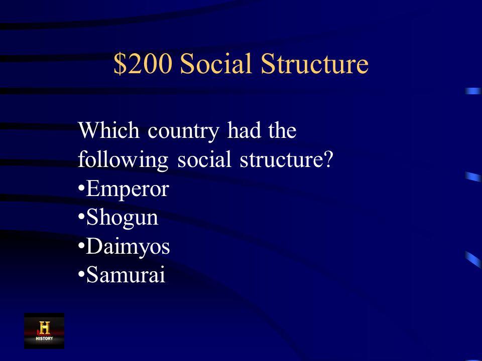 $100 Social Structure Emperor