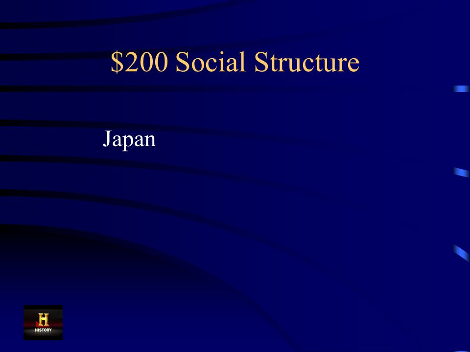 $200 Social Structure Which country had the following social structure.