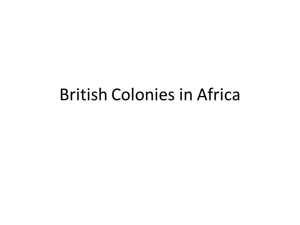 British Colonies in Africa
