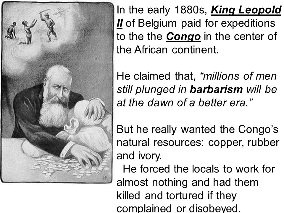 Promises, Promises Leopold promised the European nations at the conference that he would build a nation of free Congo states, like the United States,