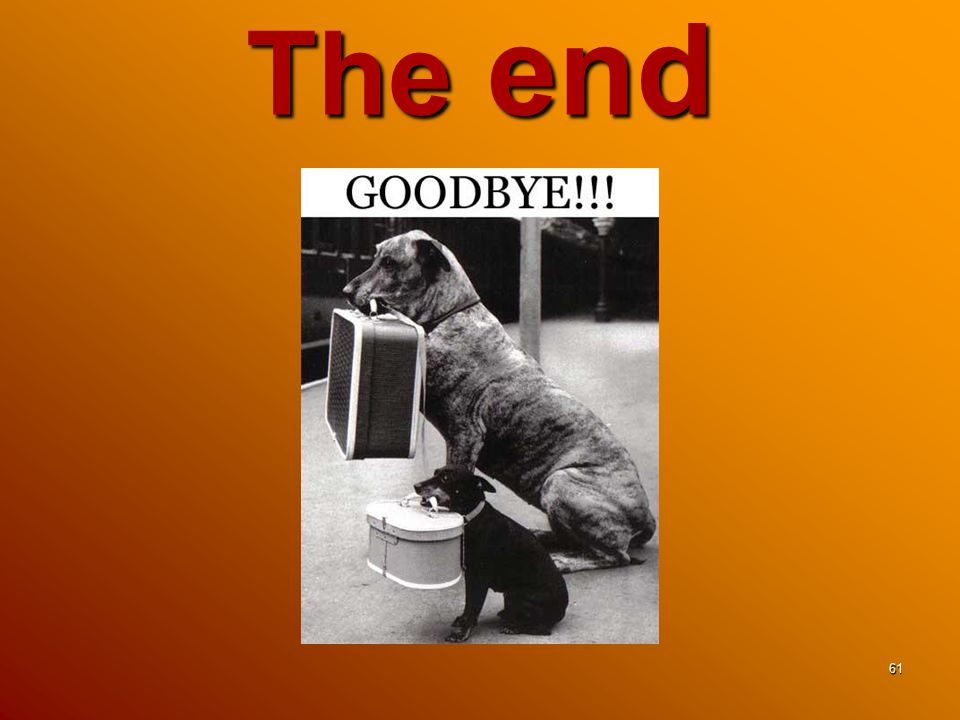 The end 61