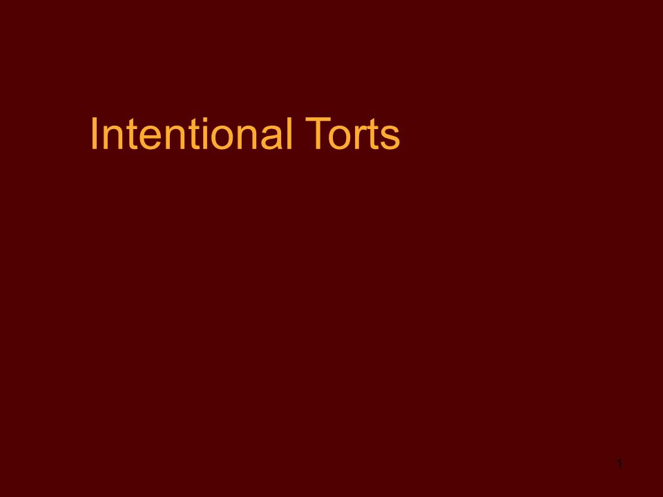 I.TORTS AND DAMAGES A. Types (Categories) of Damages 1.