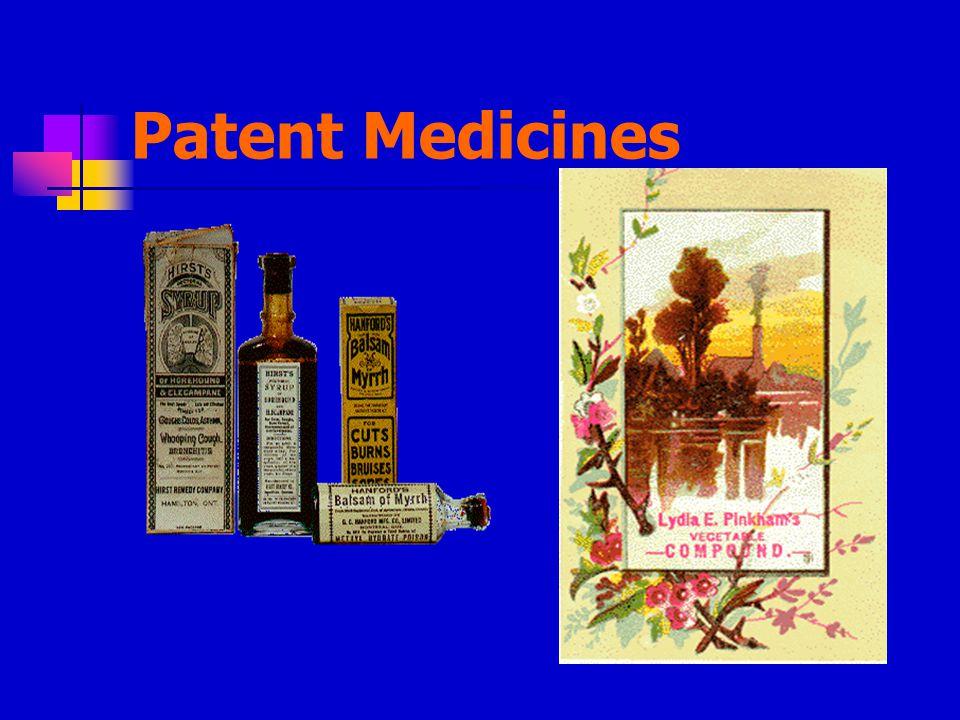 Patent Medicines