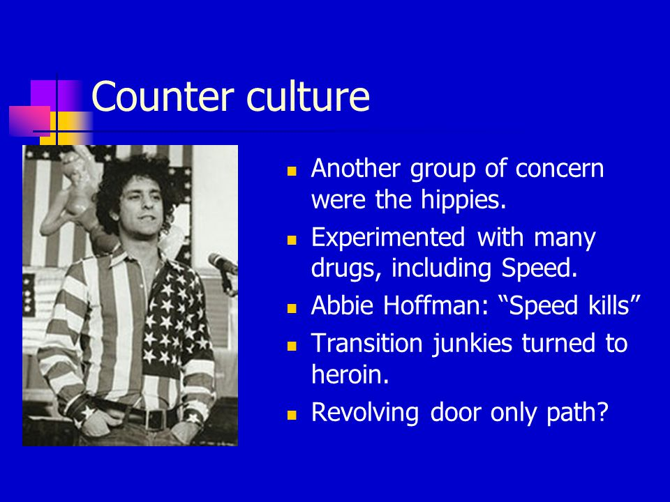 Counter culture Another group of concern were the hippies.