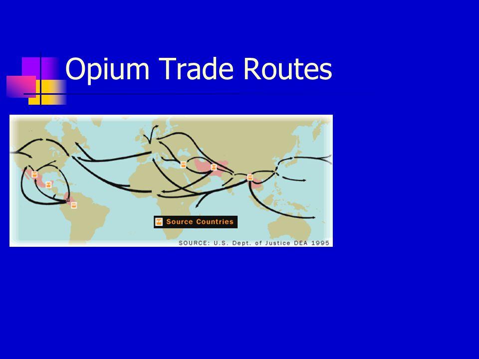 Opium Trade Routes