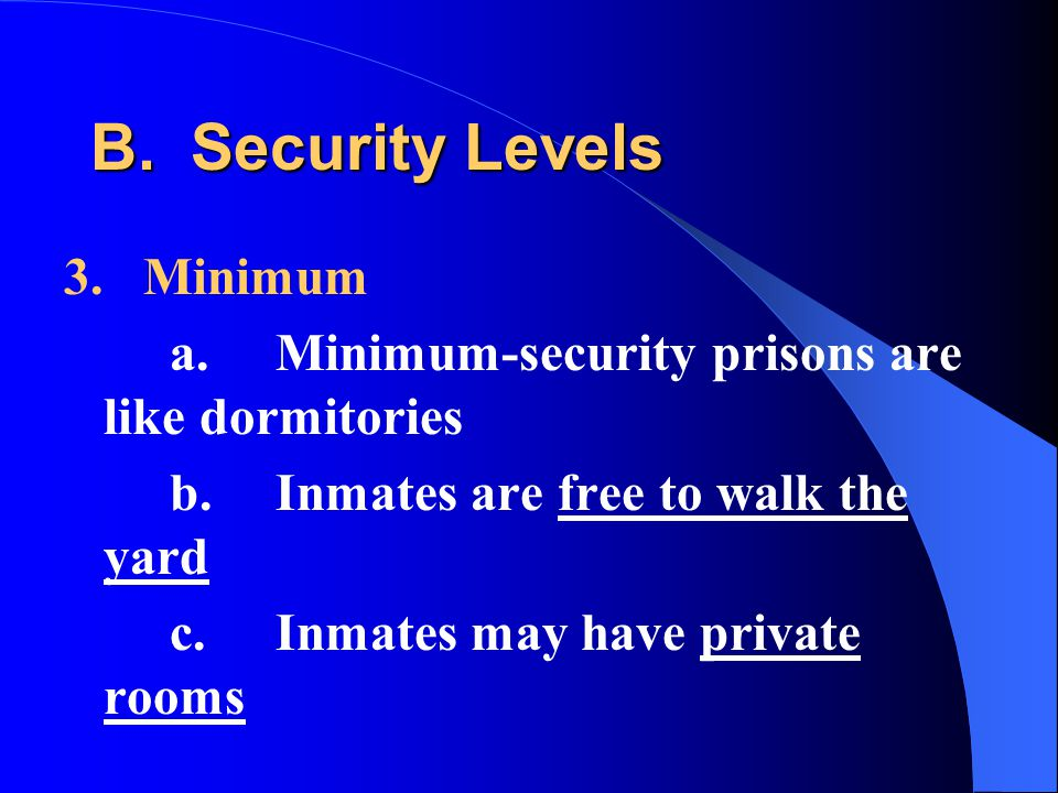 B. Security Levels 3.