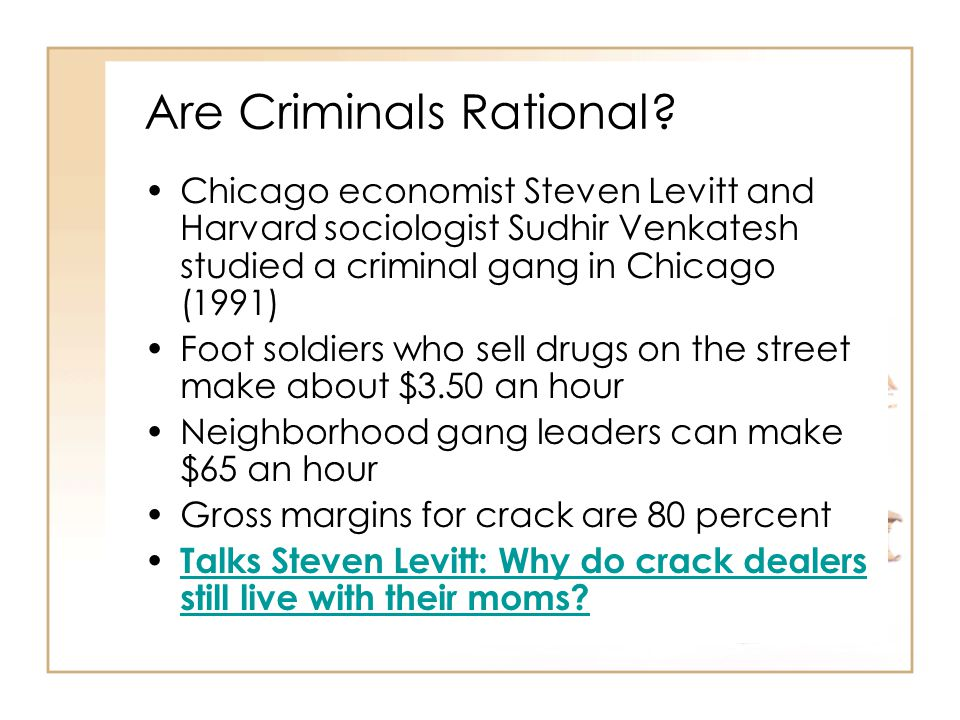 Are Criminals Rational.