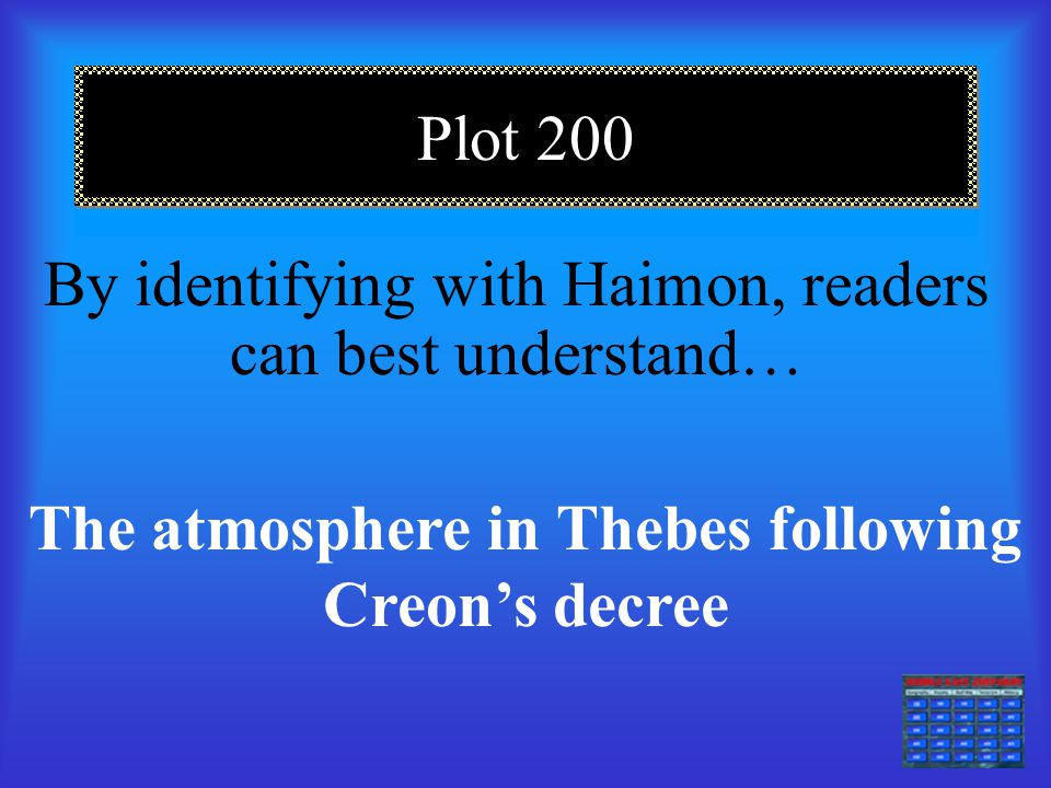 Plot 100 Readers can sympathize with Antigone because of her… Struggle to do what she feels is right