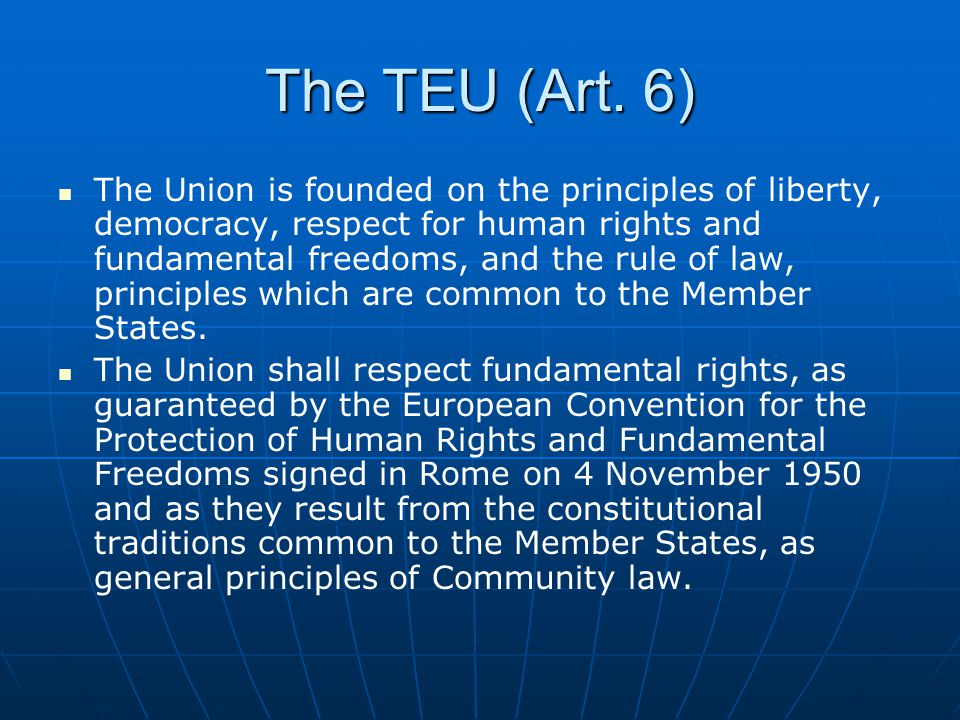 ECJ Jurisdiction re: Art.6(1) TEU Art.
