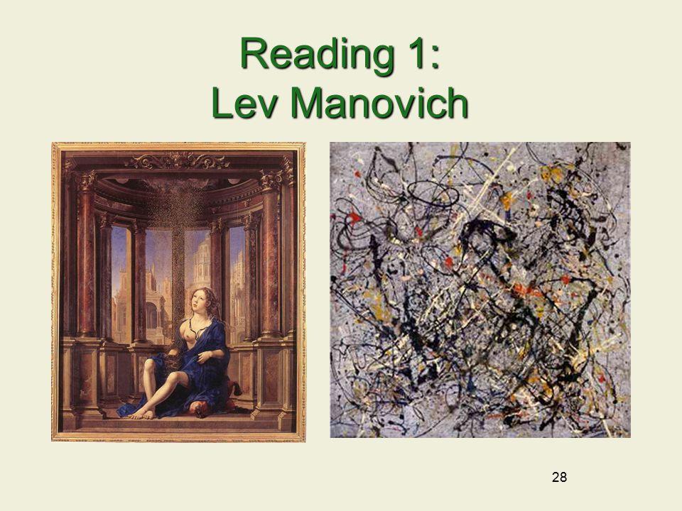 28 Reading 1: Lev Manovich