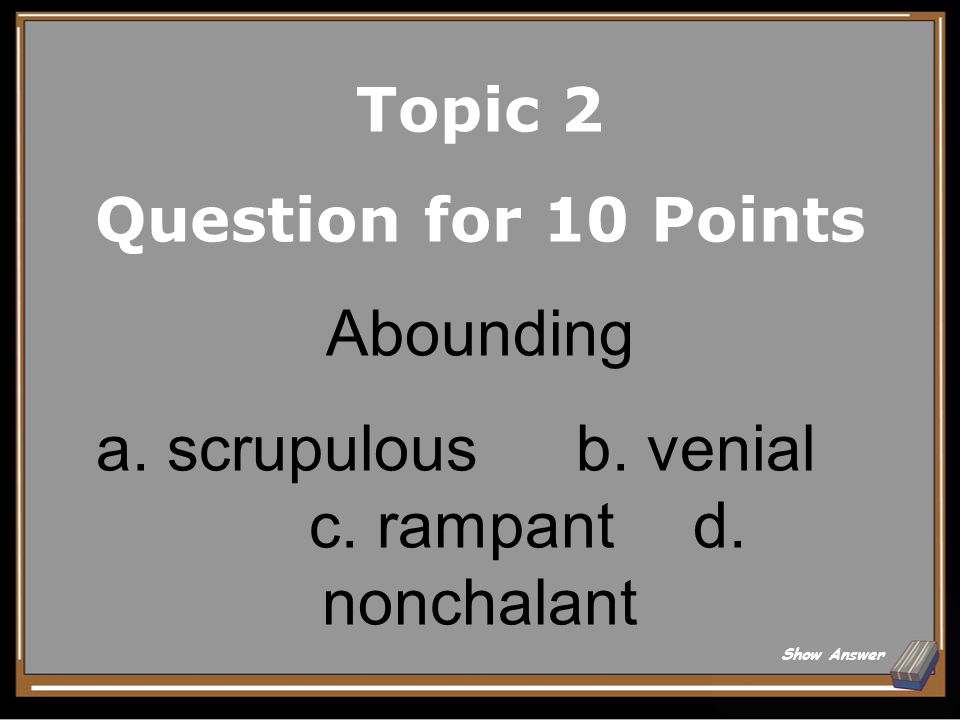 Topic 2 Answer for 5 Points Discrepancy Back to Board
