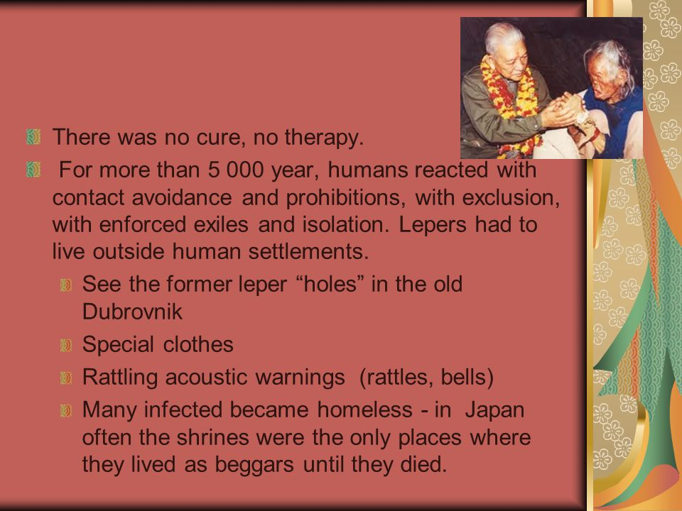 The leprosaria were not small institutions: 1900 30 000 patients were found in Japan.