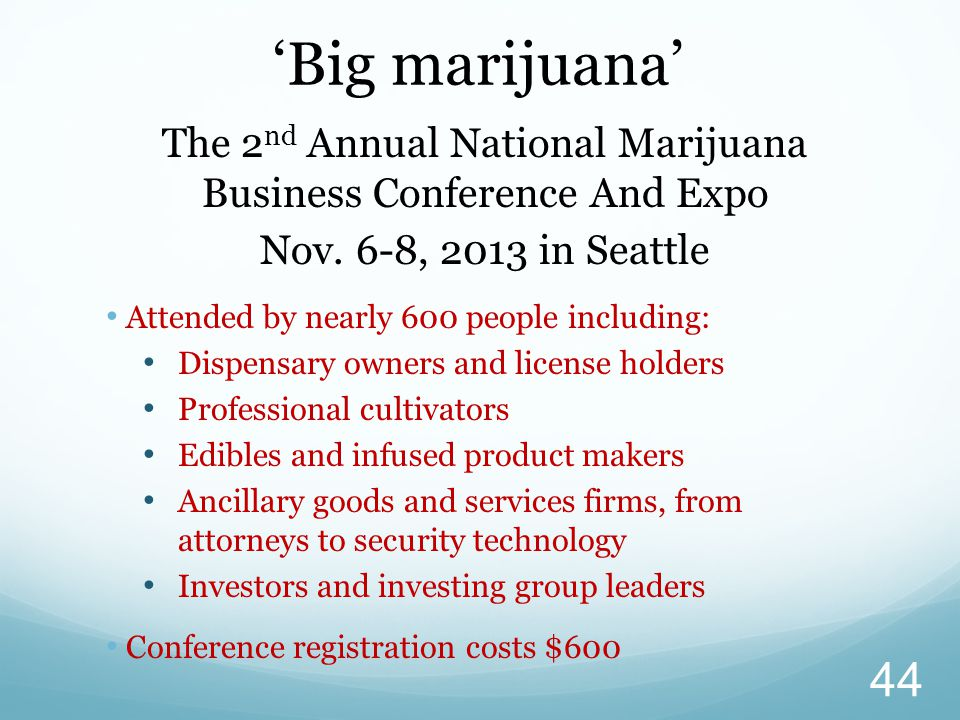 The 2 nd Annual National Marijuana Business Conference And Expo Nov.