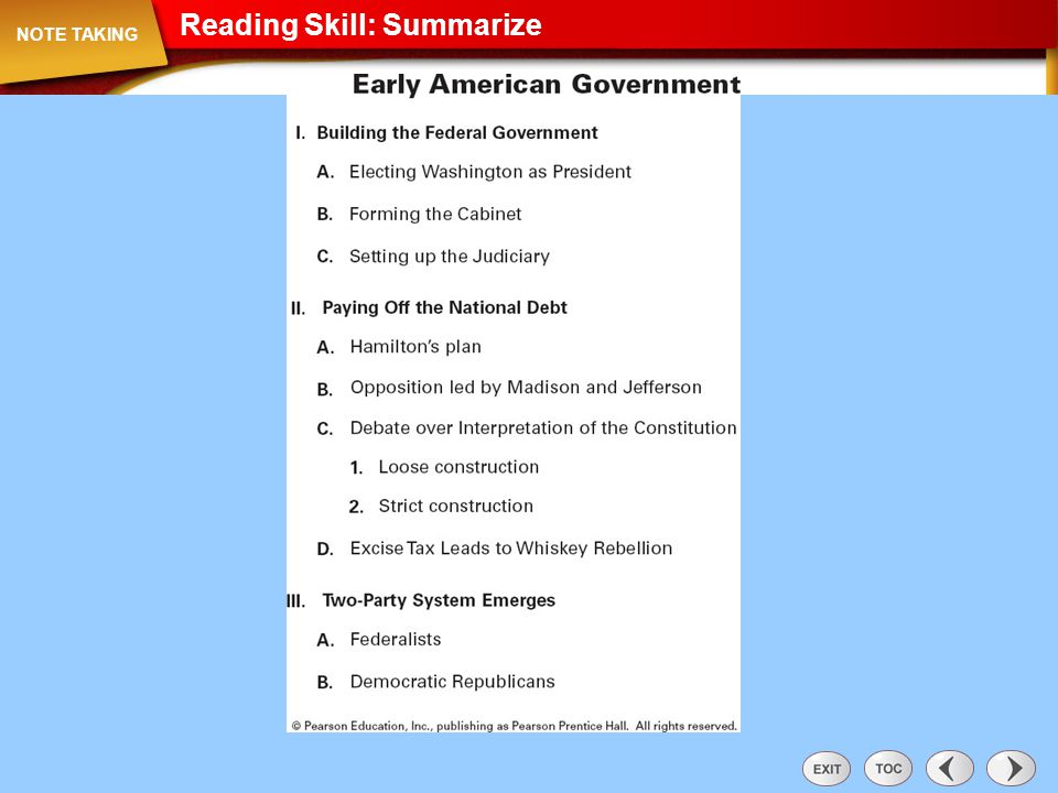 Reading Skill: Recognize Sequence Note Taking: Reading Skill: Recognize Sequence NOTE TAKING