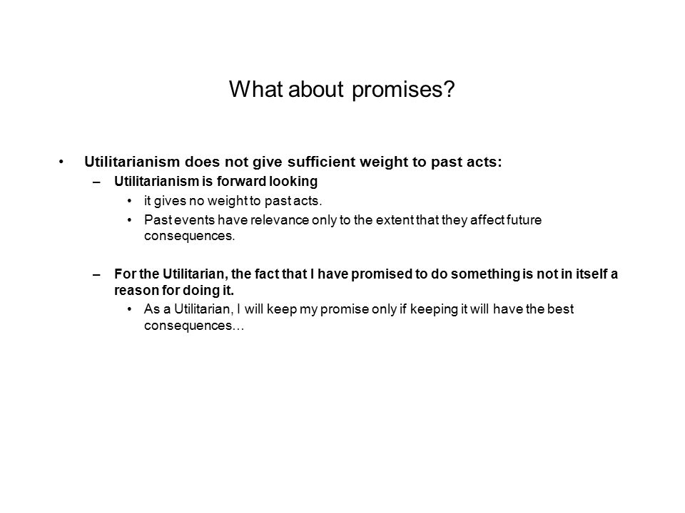 What about promises.