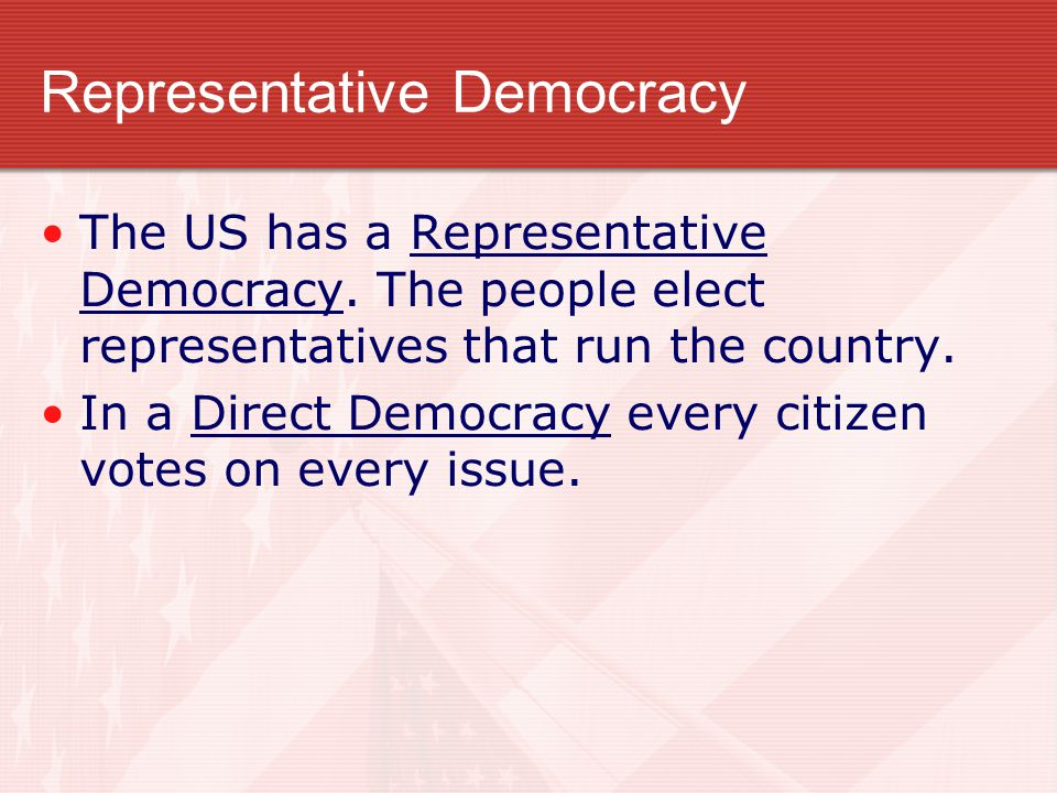 The Roots of Democracy Conditions that favor the democratic system of government. ► Citizens participate in civic life. ► Stable, growing economy with