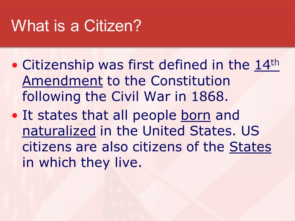 What is a Citizen? The Greek Philosopher Aristotle, one of the first students of government, defined a citizen as someone who participates in politics