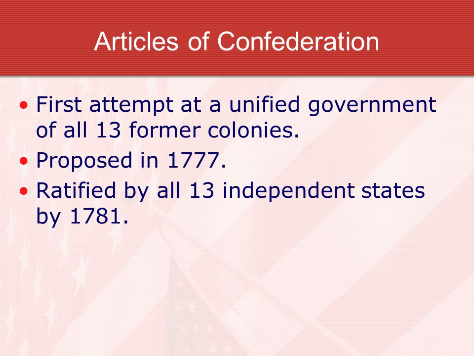 Independence! Now what? We all know that the United States achieved independence from Great Britain after the American Revolution, but winning a war w