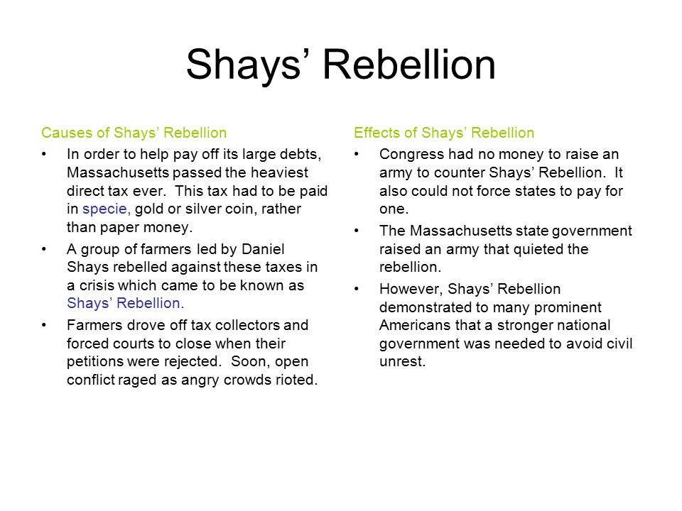Shays Rebellion Essay