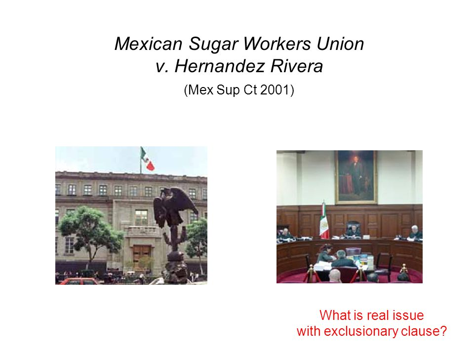 Mexican Sugar Workers Union v.