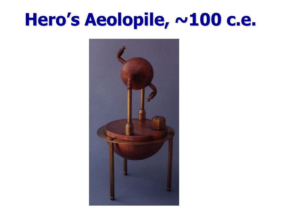 Hero's Aeolopile, ~100 c.e.