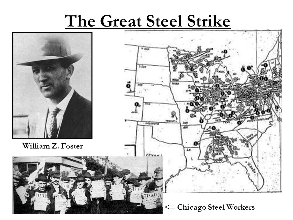 The Great Steel Strike William Z. Foster <= Chicago Steel Workers