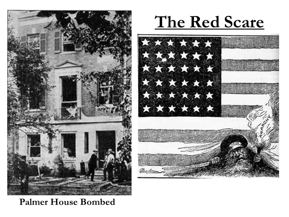 The Red Scare Palmer House Bombed