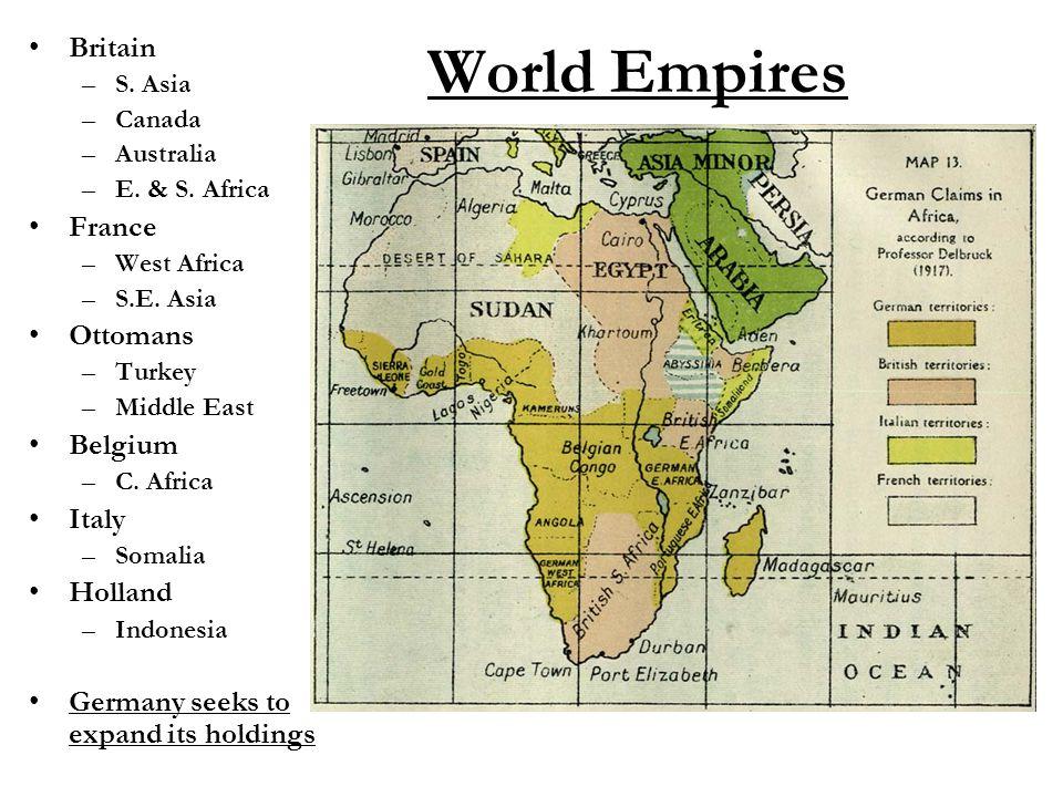 World Empires Britain –S. Asia –Canada –Australia –E.