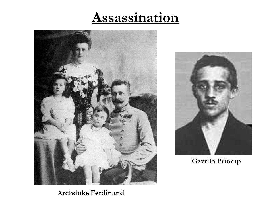 Assassination Archduke Ferdinand Gavrilo Princip
