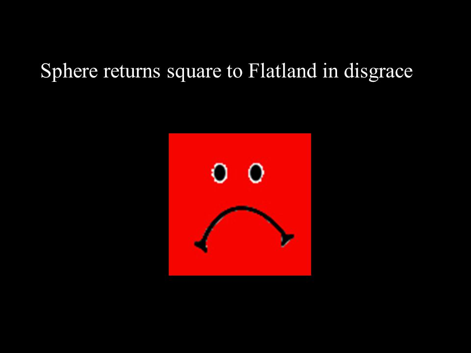 Sphere returns square to Flatland in disgrace
