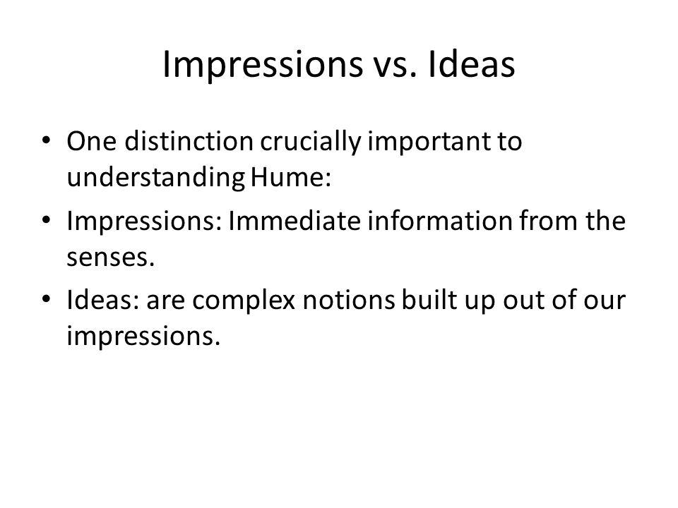 Impressions vs.