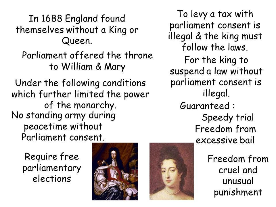 In 1688 England found themselves without a King or Queen.