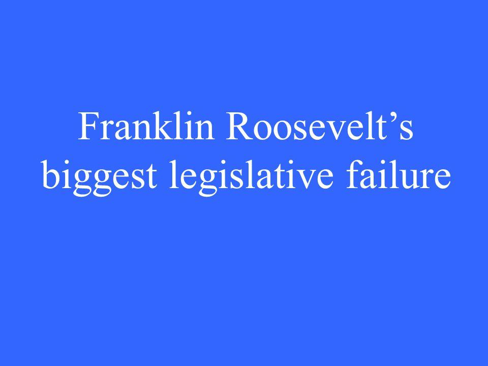 Franklin Roosevelt's biggest legislative failure