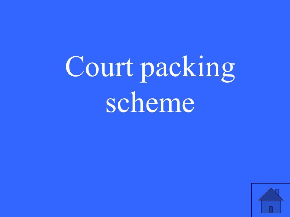 Court packing scheme
