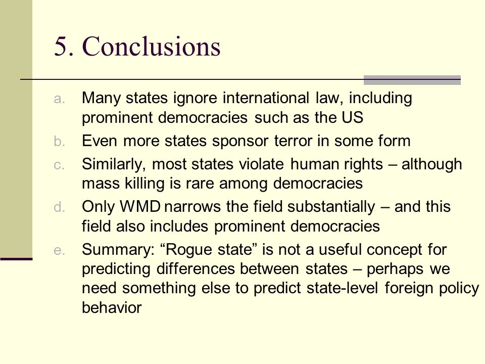 5. Conclusions a.