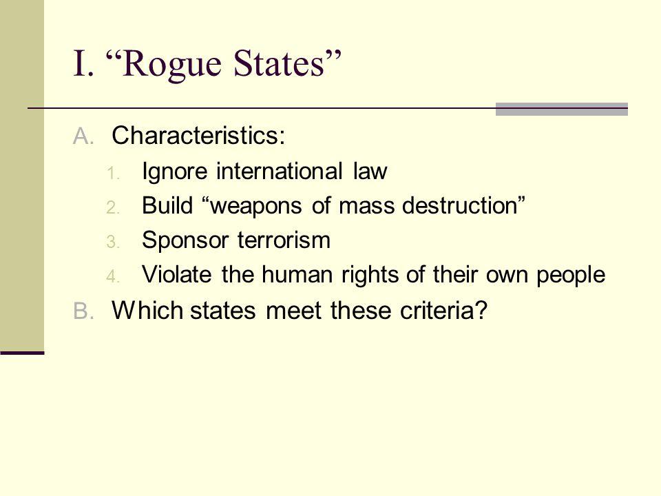 3.Who sponsors terrorism.