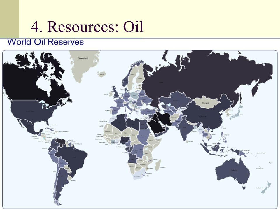 4. Resources: Oil