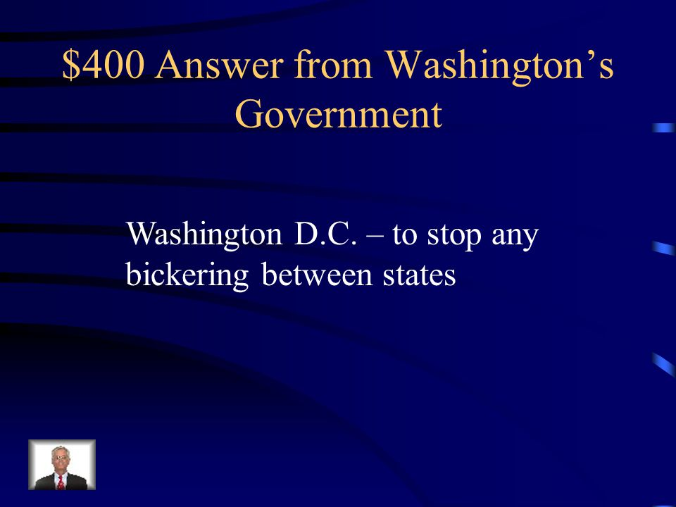 $400 Question from Washington's Government Where did Hamilton relocate the nation's capital and why?
