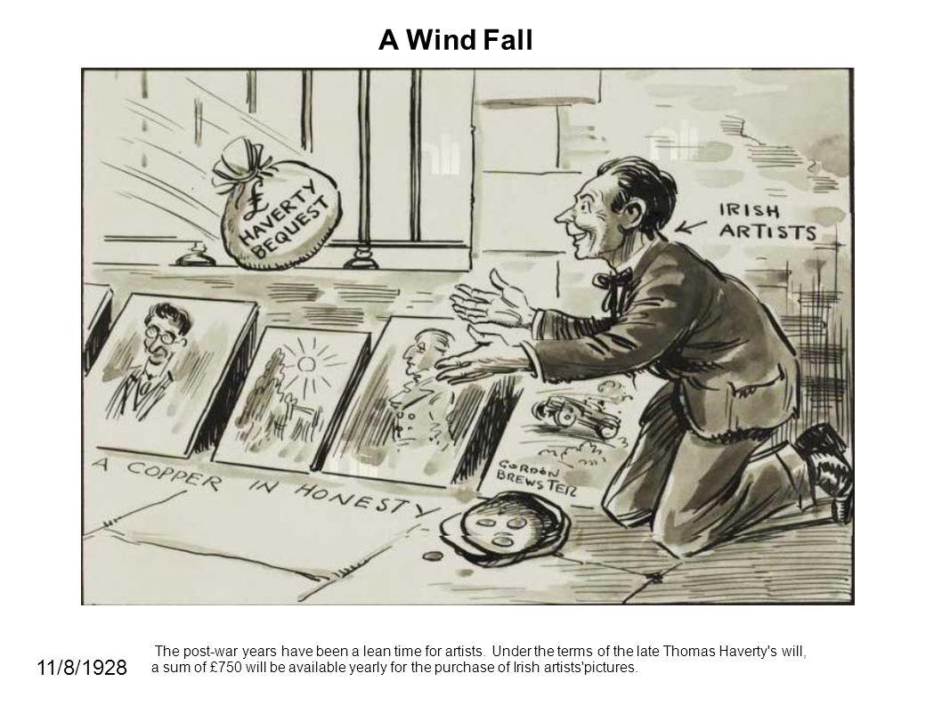 A Wind Fall The post-war years have been a lean time for artists.