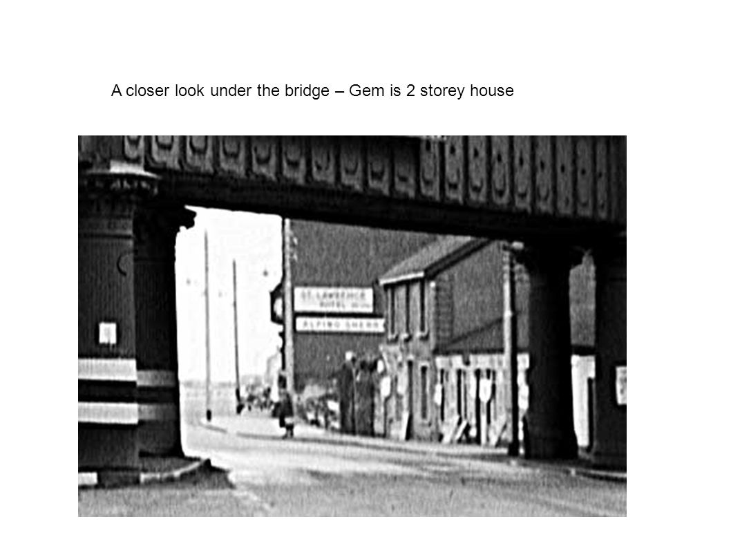 A closer look under the bridge – Gem is 2 storey house