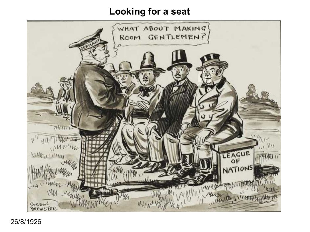 Looking for a seat 26/8/1926