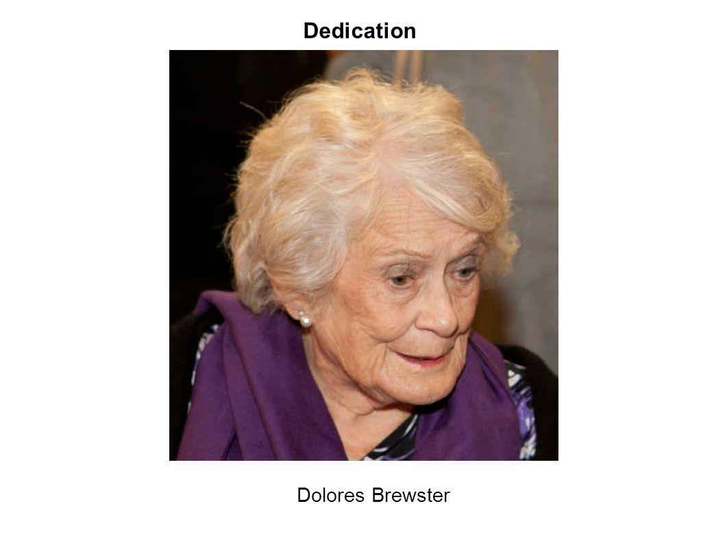 Dedication Dolores Brewster